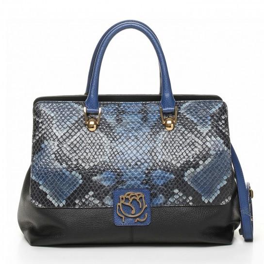 Handbag in pitone