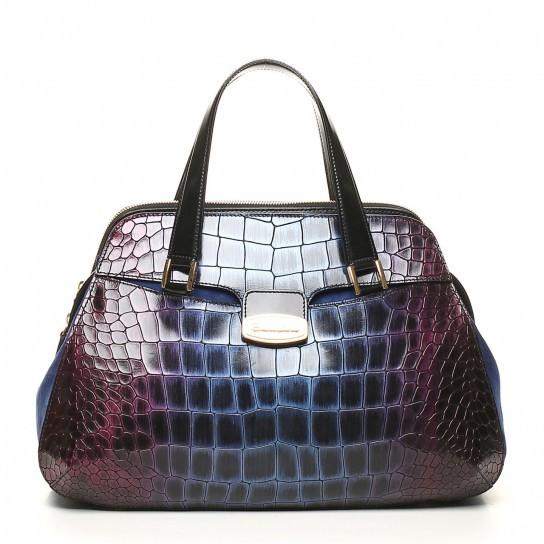 Handbag viola e prugna degradé