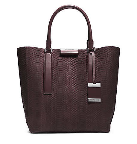 Lexi Sueded Snake Large Tote Michael Kors