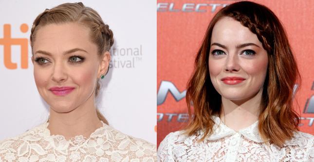 Make up romantico e bon ton per alcune tra le giovani attrici più famose del momento, da Amanda Seyfried a Emma Stone