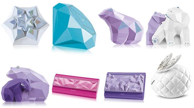 Packaging davvero natalizio e festivo con orsi polari , stelle di natale e cristalli. Prezzo dai 10,00 ai 20,00 euro circa