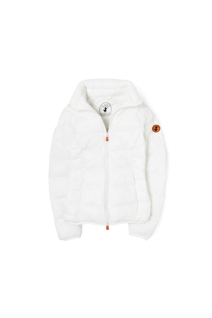 Piumino bianco con imbottitura ecologica, pratico, confortevole e caldo