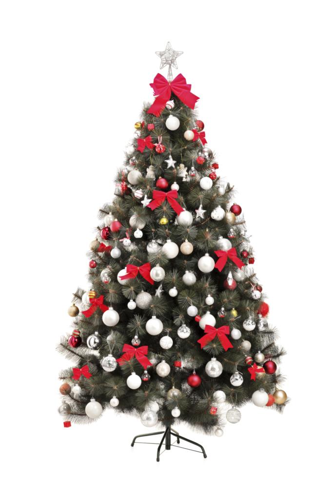 Il bianco e il rosso sono due colori intramontabili, abbinateli per addobbare il vostro albero di Natale