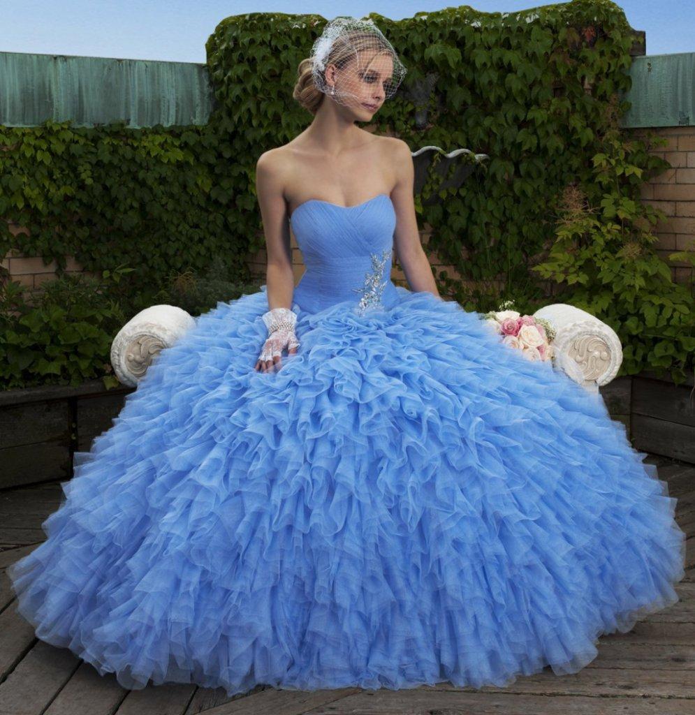 romantico abito in tulle modello principessa