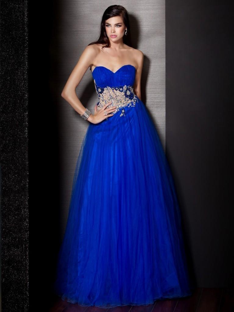 Accessori per abito blu elettrico – Abiti alla moda 6cd9e321001