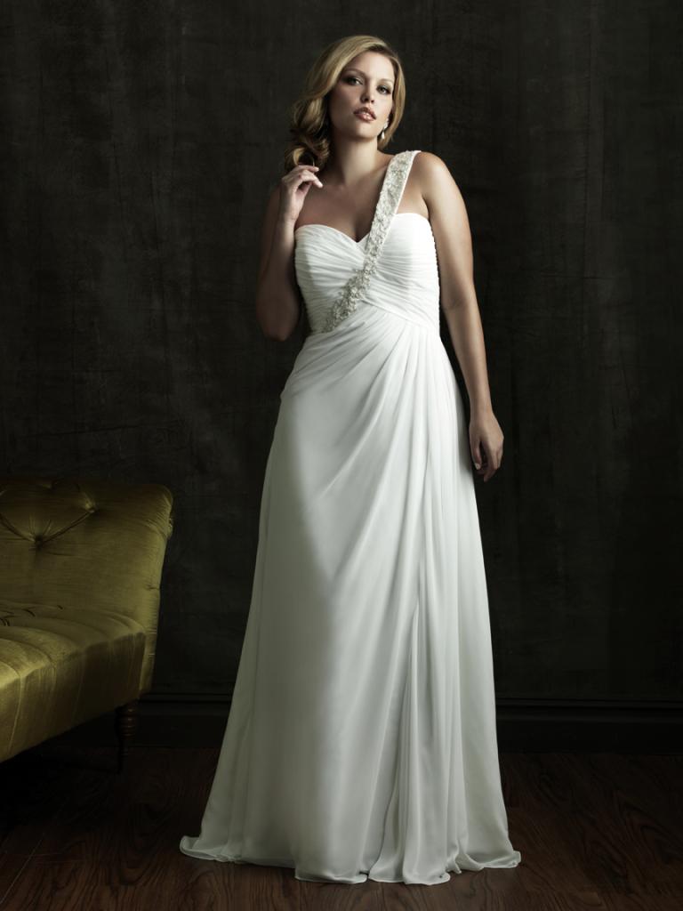 abito sposa taglie forti in chiffon