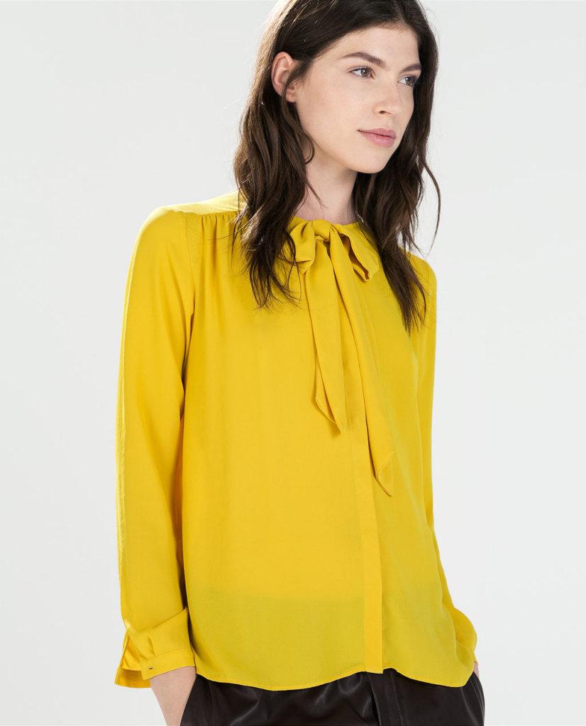 Camicia con fiocco, disponibile in 3 diverse colorazione questa camicia è perfetta da indossare in ufficio, ZARA 29,95euro