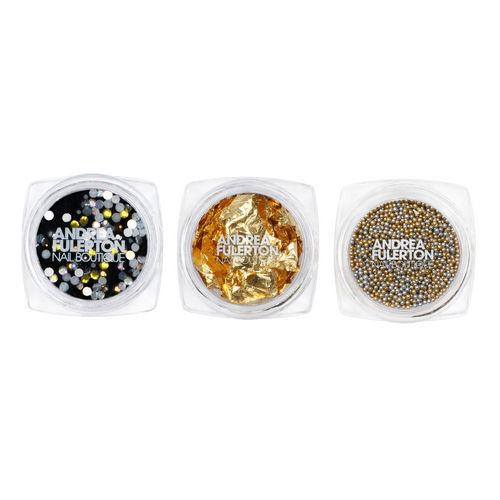 Kit da Nail Art composto da pietre, glitter, microperle e polveri per personalizza le unghie