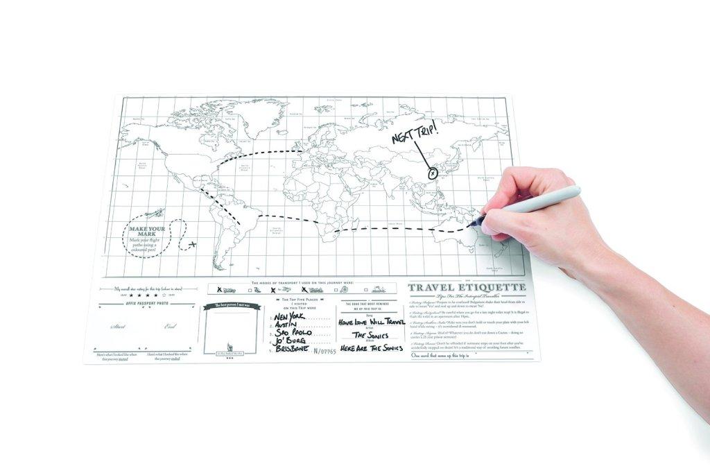 Scratch Map di Eurows - Segna il tuo prossimo itinerario - Eurows