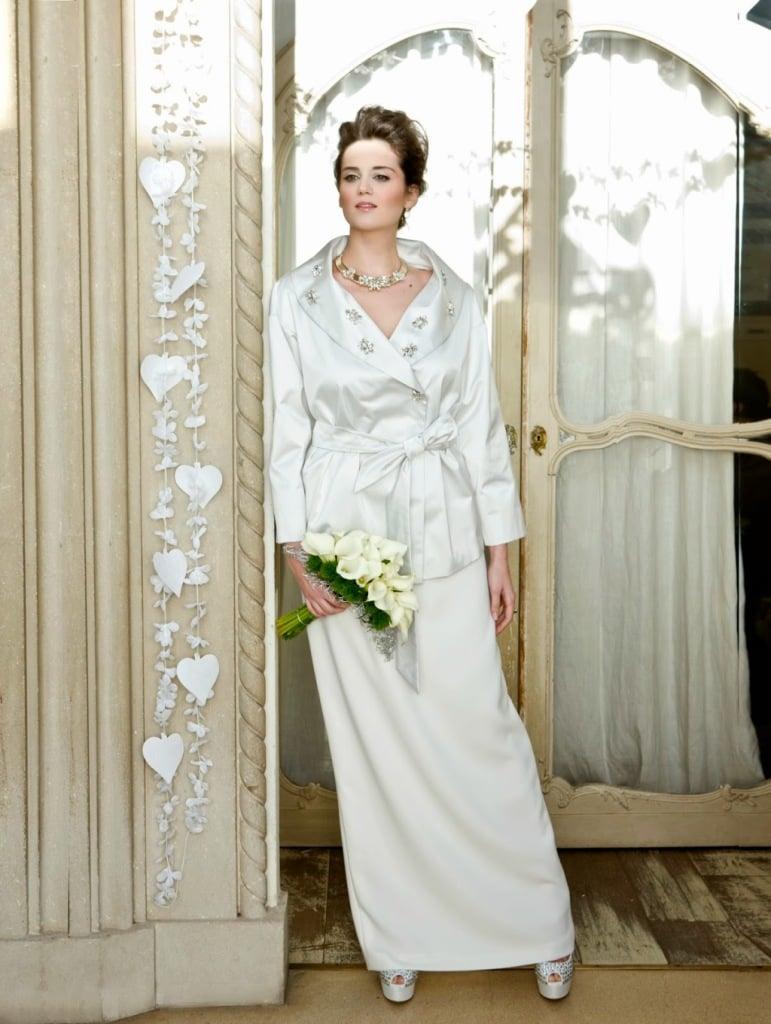 Abito sposa Marina Rinaldi formato da due pezzi con cintura in vita
