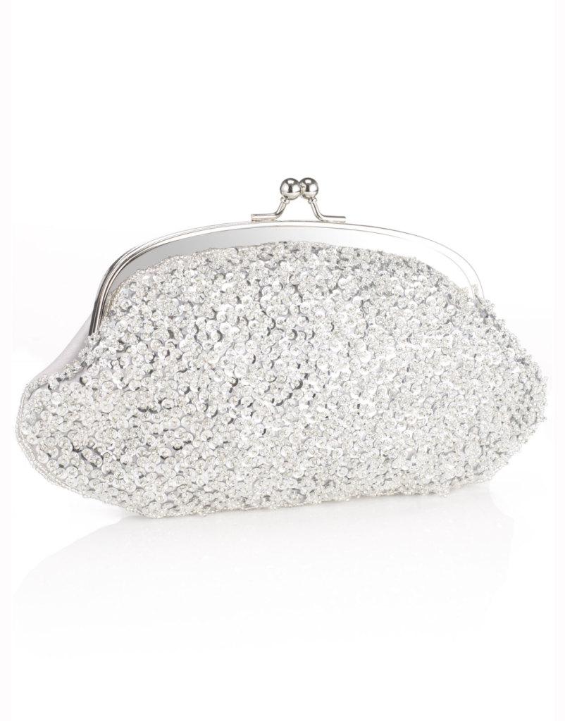 pochette silver di Accessorize ideale per matrimoni eleganti e con dettagli luce