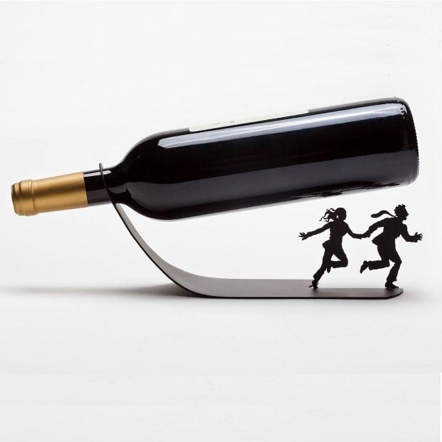 Porta bottiglia Si salvi chi può - Su troppotogo a 19.95 euro