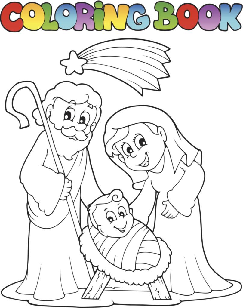 Illustrazione Natale da Colorare