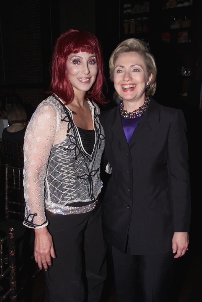 Al compleanno di Hillary Clinton, nel 2000.