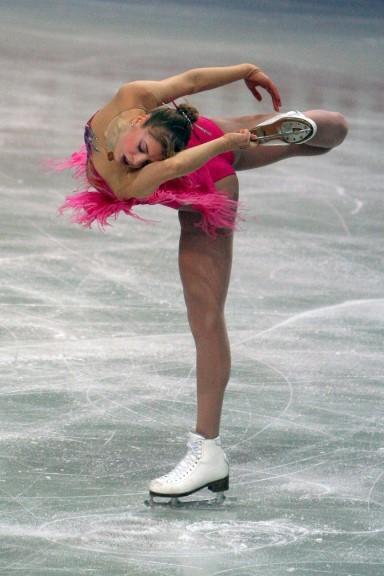 Carolina Kostner in pista