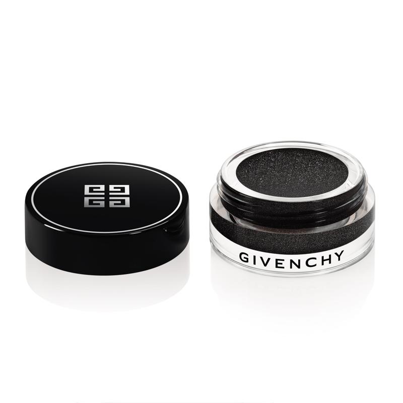 OMBRE COUTURE: ombretto in crema in base nera , arricchito da una cascata di glitter argento e oro.
