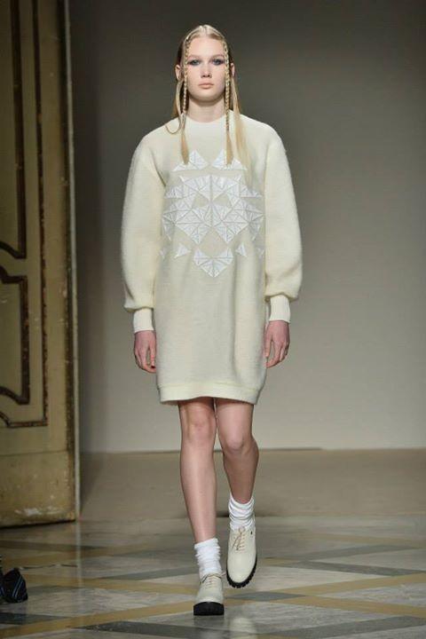 Maxi dress in lana Grinko, proposte total white AI 2014 2015