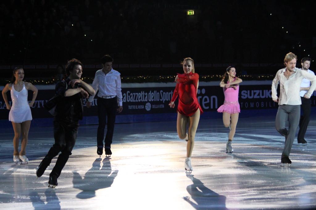 Un'esibizione condivisa per i maestri del ghiaccio, da Carolina Kostner a Lambiel e Plushenko - Credits: Chiara Rota