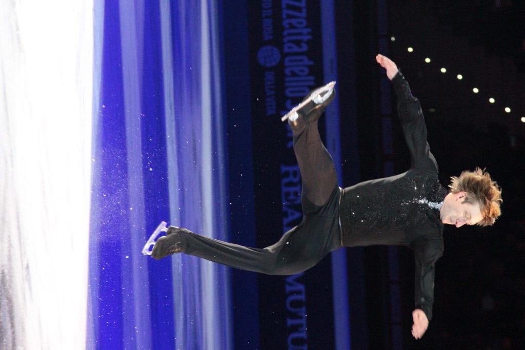 Evgeni Plushenko durante la sua esibizione dall'abilità tecnica impeccabile - Credits: Chiara Rota