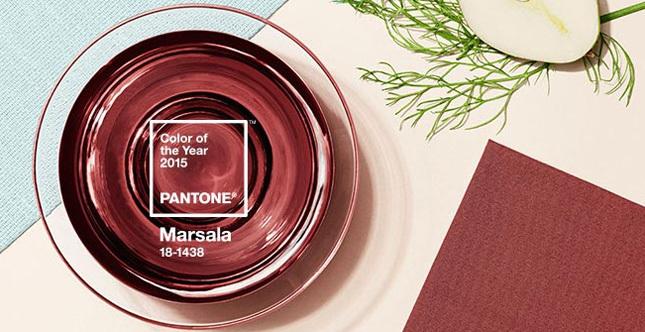 Il colore dell'anno 2015 Pantone è il Marsala, un rosso caldo e intenso, ispirato all'omonimo vino siciliano