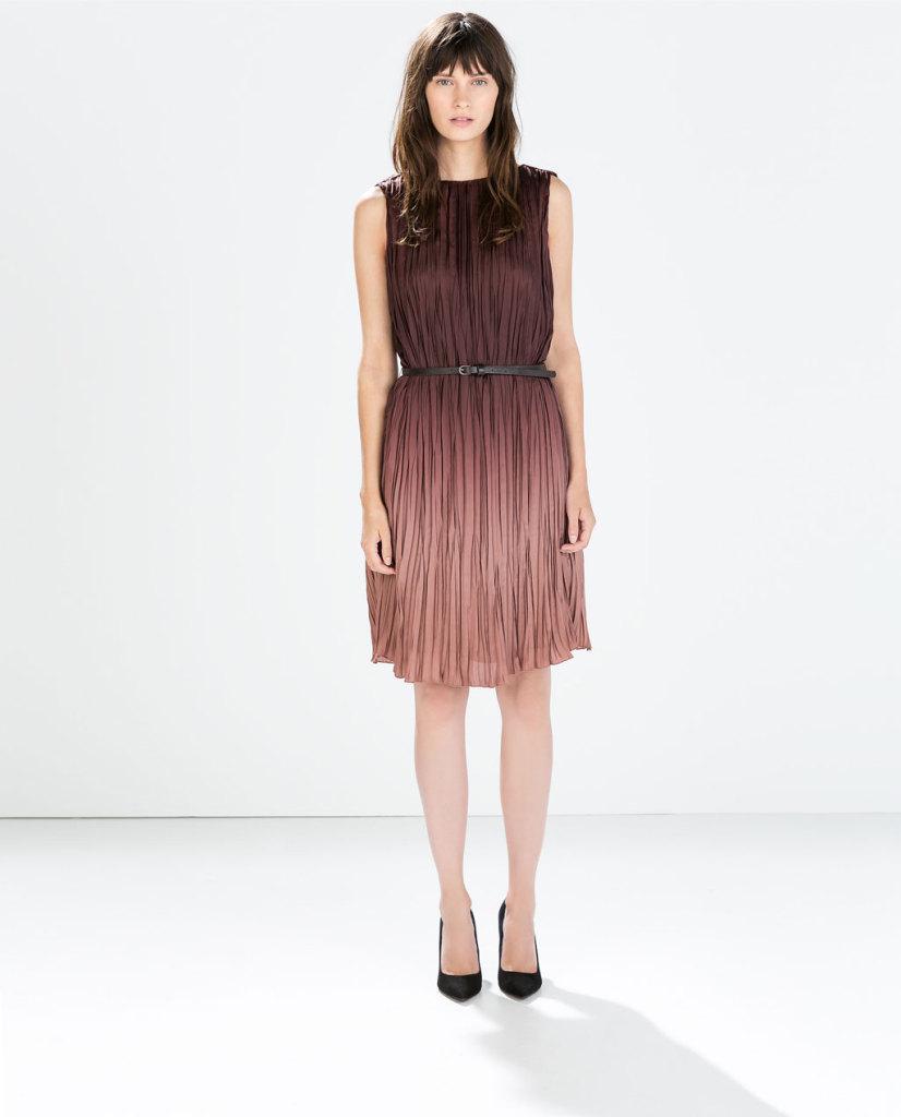 Per l'AI 2014/2015 Zara propone un particolarissimo abito degradé