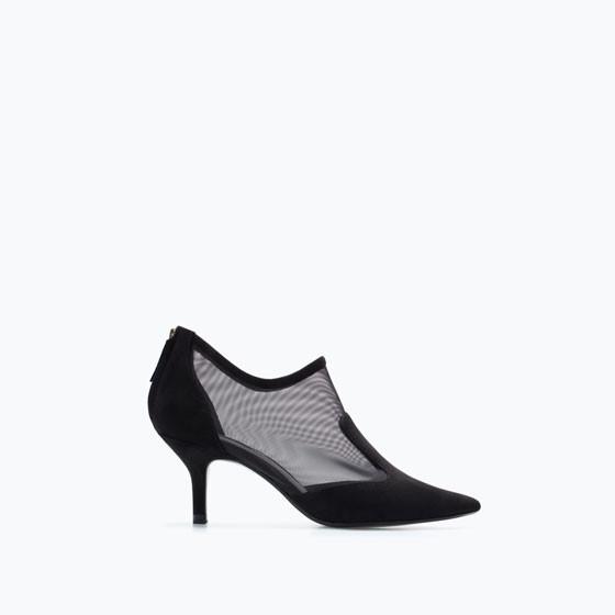 Rete e tacco medio per gli ankle boots Zara