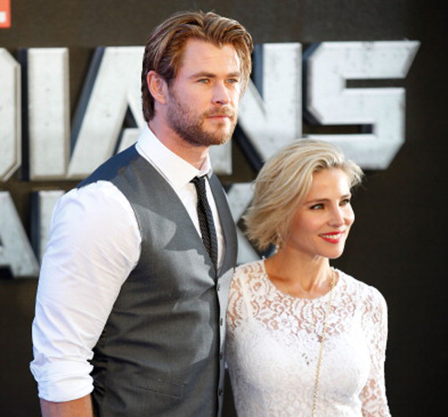 Chris Hemsworth  con la moglie Elsa Pataky alla Premiere di