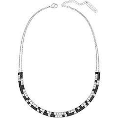 Quest'elegante collana è ideale sia per il giorno sia per la sera. Il brillante metallo palladiato si combina elegantemente con un design unico di colori che si alternano. La chiusura della collana è adornata da una targhetta con incise le iniziali del designer