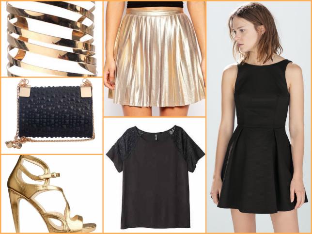 Oro, nero e paillette: idee per un look scintillante