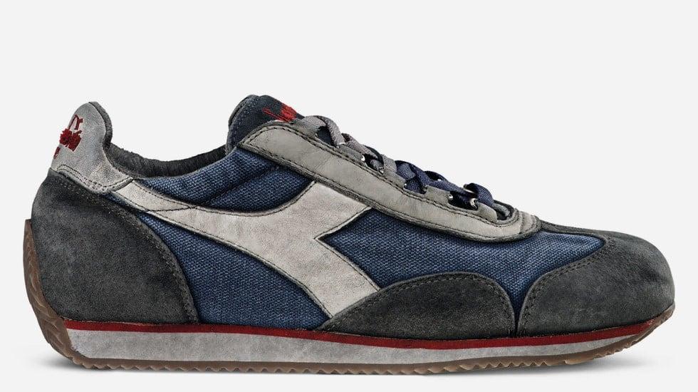 La moda della prossima stagione vuole scarpe running eleganti e ricercate, come quelle di Diadora Heritage (nella foto, il modello EQUIPE SW DIRTY 11 - 156548 della collezione AI 2014/2015)