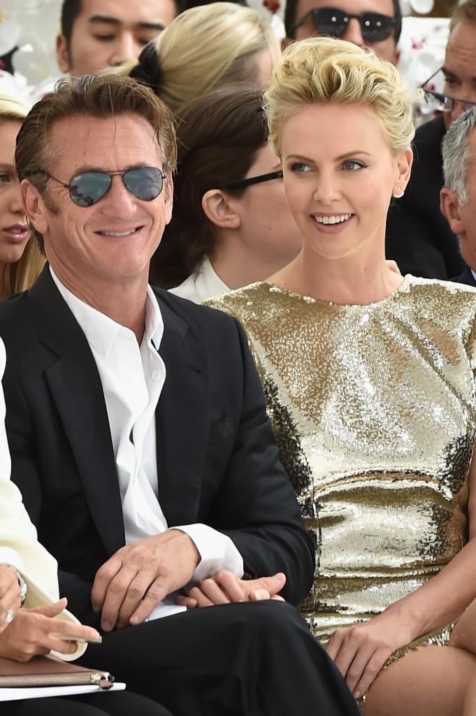 Sean Penn e Charlize Theron al front-raw di Christian Dior alla Paris Fashion Week 2014