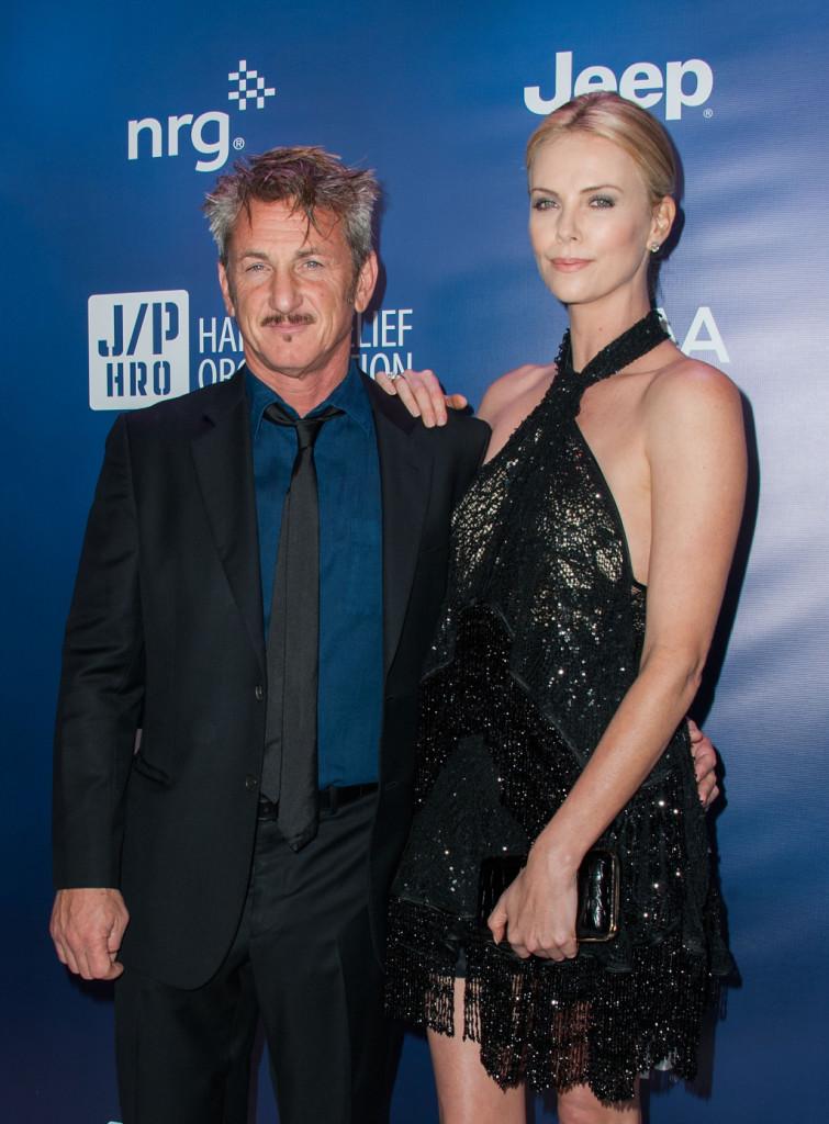 Sean Penn e Charlize Theron al quarto Sean Penn & Friends HELP HAITI HOME Gala