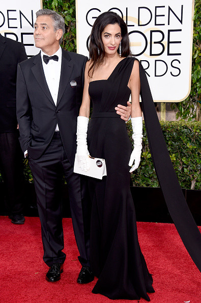 George e Amal Clooney al primo red carpet da sposati ai Golden Globes 2015