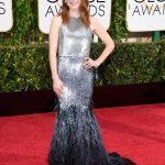 Golden Globe 2015 abito in lamé argentato firmato Givenchy