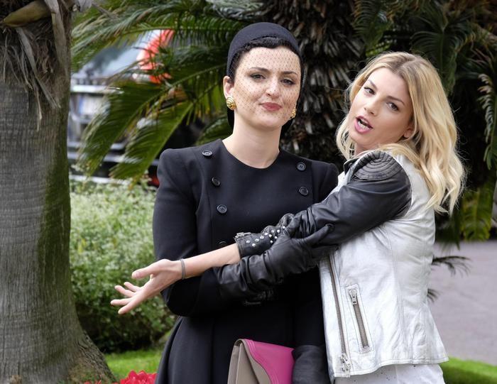 Arisa ed Emma alla conferenza stampa di presentazione del Festival di Sanremo