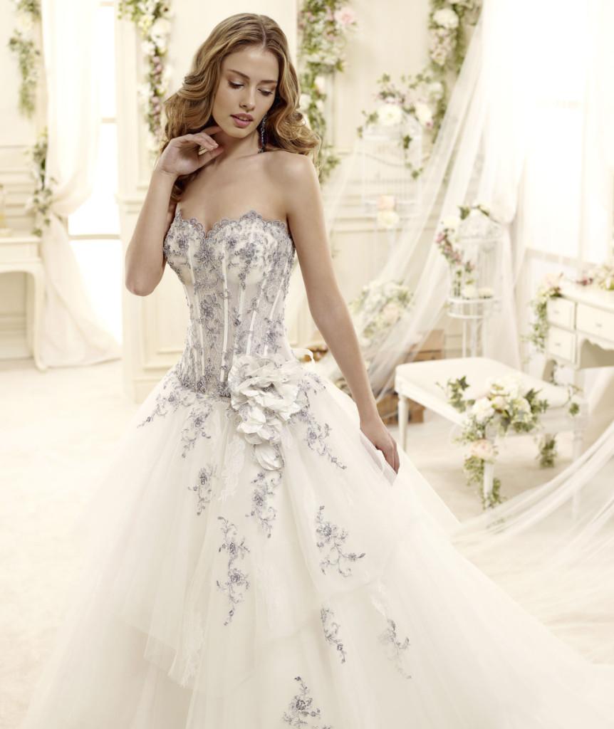 abito sposa molto sexy con corpetto semi trasparento