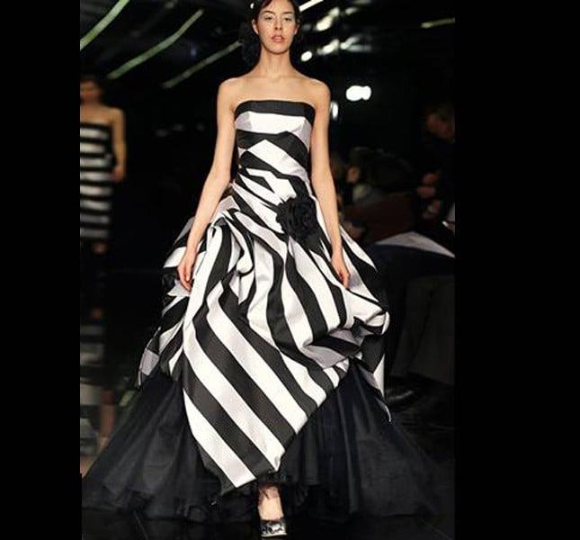 Bianco e nero! UN abito da sposa che è anche un abito da sera