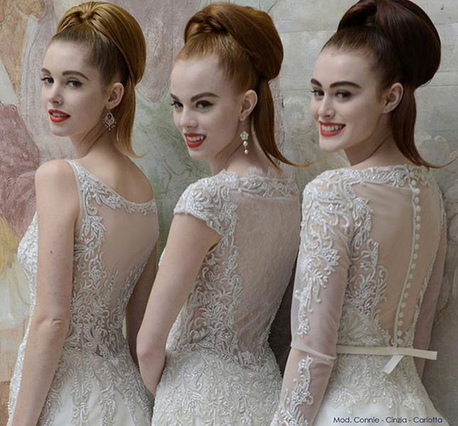 Schiene romantiche e seducenti quelle proposte negli abiti di Atelier Aimèe