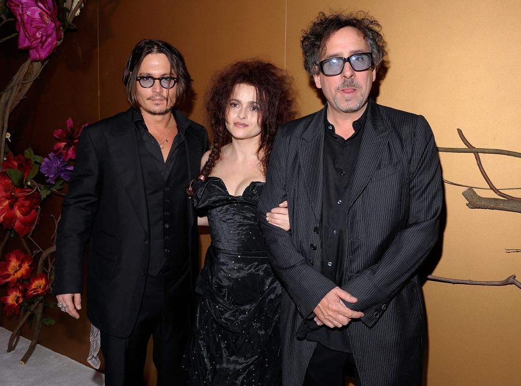 Helena Bonham Carter al MoMA's Film Benefit con Johnny Depp e il compagno Tim Burton
