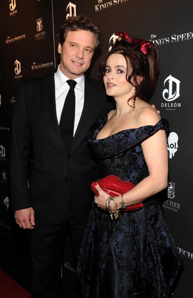 Helena Bonham Carter sul red carpet con Colin Firth