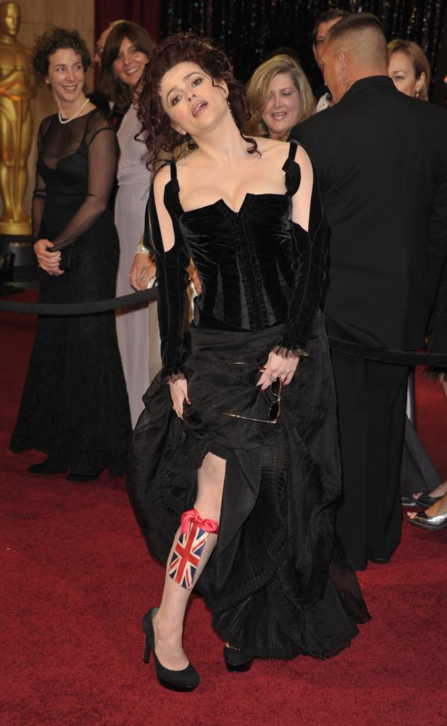 Helena Bonham Carter sul red carpet degli Academy Awards nel 2011