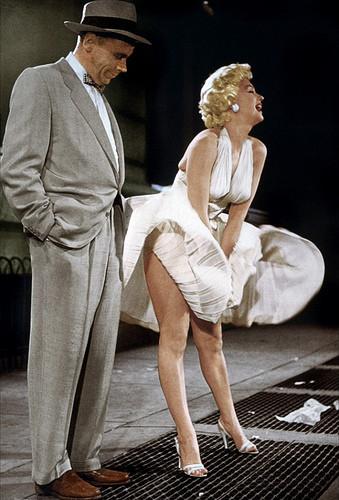 Marilyn e la scena in cui si gonfia la gonna dell'abito bianco che indossa