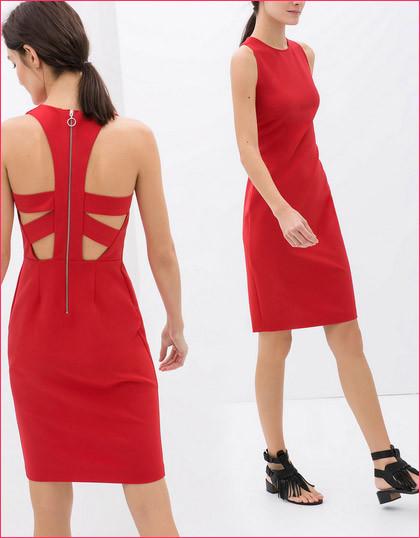 Vestito rosso corto Zara