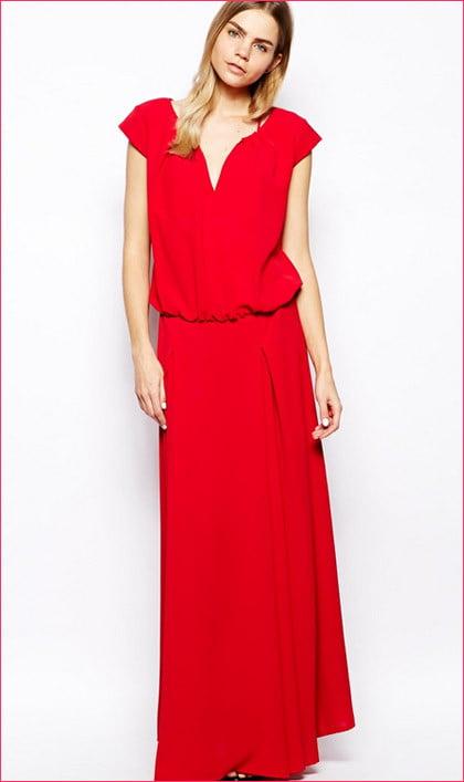 Vestito rosso lungo Ba&Sh