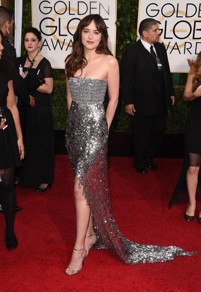 Dakota Johnson ai Golden Globe Awards