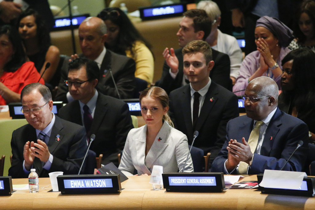 Emma Watson parla alle Nazioni Unite nell'ambito della campagna femminista HeForShe