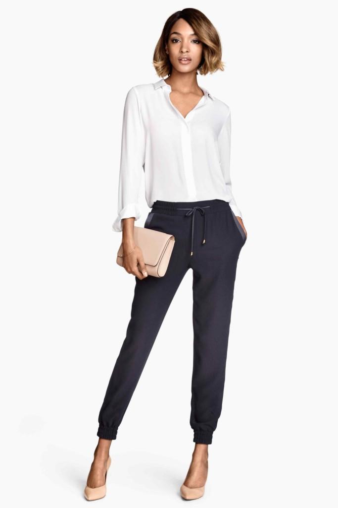 H&M_Pantalone stile sporty con camicia