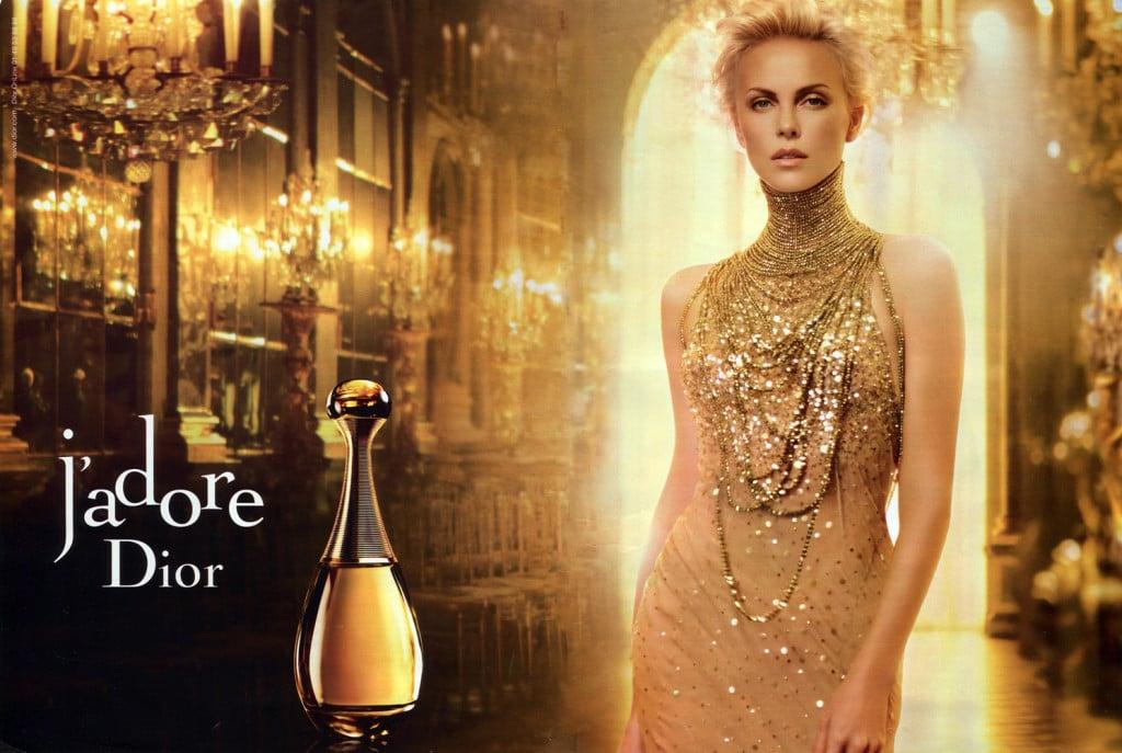 Charlize Theron per J'adore di Dior