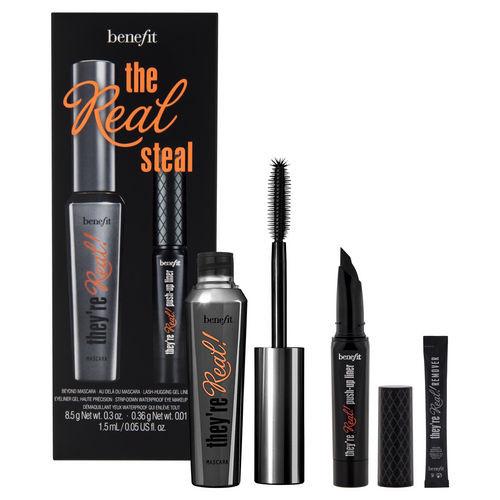 Il kit ideale per uno sguardo da cerbiatta:  They're Real! mascara, eyeliner e struccante (Benefit)