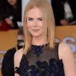 Nicole Kidman con long bob liscio e riga al centro